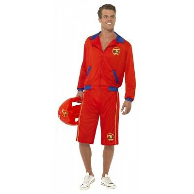 Baywatch Beach Men's Lifeguard Costume Halloween Fancy Dress
