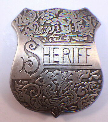 Sheriff Badge Of The Old West Western Inspired Pin Back