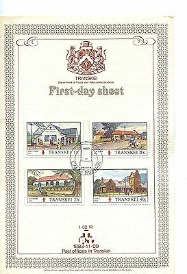 Transkei 1983 Post Office  Card FDC tone on card