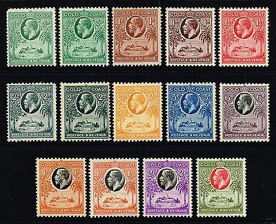 Gold Coast 1928 King George V set to 5s., MH (SG#103/112)