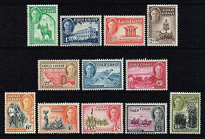 Gold Coast 1948 King George VI set to 10s., MH (SG#135/146)