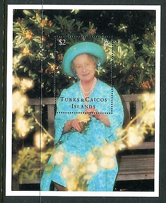 Turks & Caicos 1995 Queen Mother MS MNH