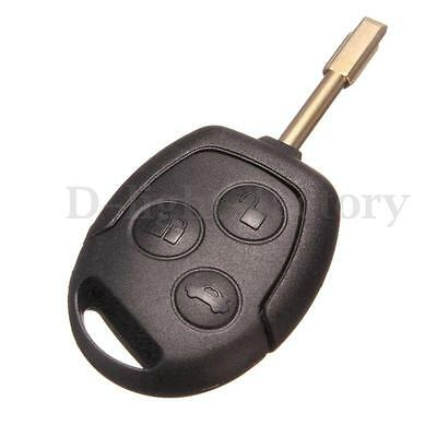 For Ford Mondeo Fiesta Focus 3 Button Remote Key FOB Case Shell With Uncut Blade