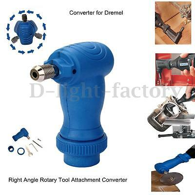 Right Angle Drill Attachment Converter Adaptor For Dremel Rotary Chuck Tool