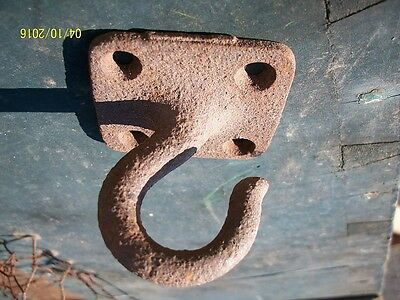 Rustic!! Old Cast Iron - Steel Porch Ceiling Plant Hook
