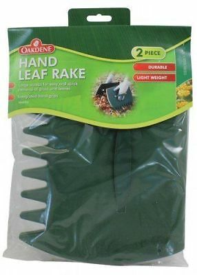 Oakdene Garden Hand Leaf Rake Large Scoops Quick Removal Of Grass/Leaves
