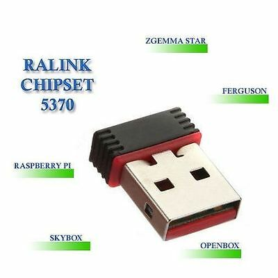 Wireless WiFi USB Ralink 5370 150Mbps Lan Network Card Adapter, Skybox Openbox