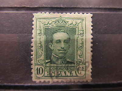 A2P8 SPAIN 1922-26 10c YELLOW GREEN USED