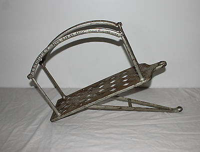 Antique Fire Hose Swinging Folding Cast Iron Hose Rack Holder J.C.N Guibert 1884