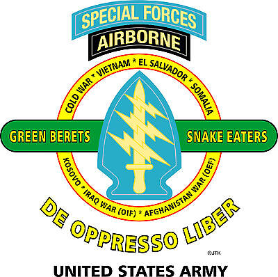 Special Forces Airborne & Operation Desert Storm Veteran  2-Sided Shirt