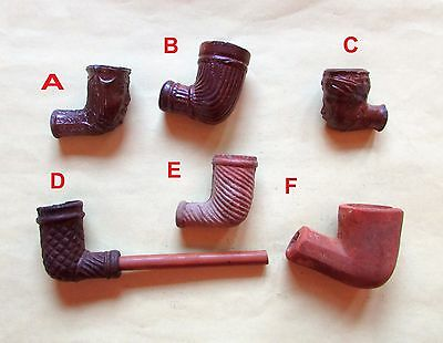 Historic Era Clay Pipes w Faces (321)
