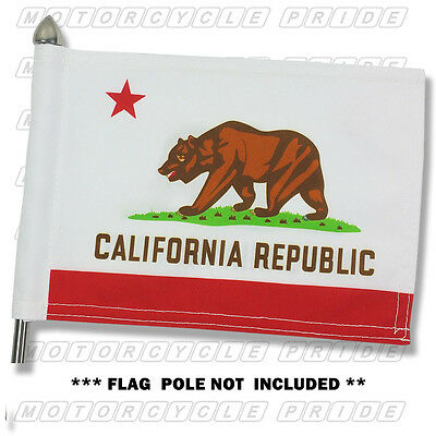 CALIFORNIA MOTORCYCLE FLAG | 6X9 or 10X15 | Double Sided & Double Stitched