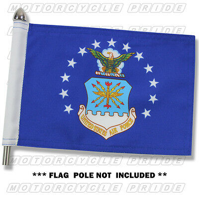 AIR FORCE MOTORCYCLE FLAG | 6X9 or 10X15 | Double Sided and Double Stitched