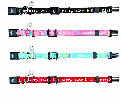 Collier chaton kitty cat, nylon couleur au choix, taille unique