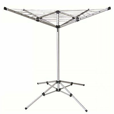 20M 4 Arm Lightweight Free Standing Portable Rotary Airer Aluminium Washing Wash