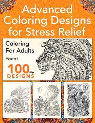 Advanced Coloring Designs for Stress Relief Book for Adults Animals Patterns .