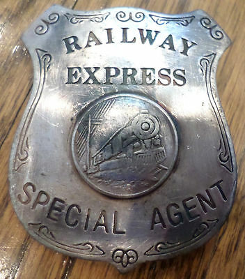Railway Express Special Agent  Old Western Inspired Replica Pin Back