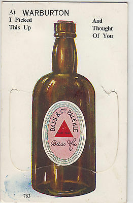Postcard fold out Bass & Cos Pale Ale beer 9 miniature view Warburton Victoria