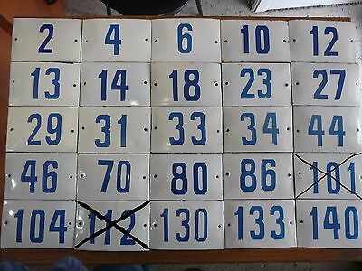 Big Choice ( 2 to 188 ) Vintage Porcelain Enamel Tin Sign Street House Numbers