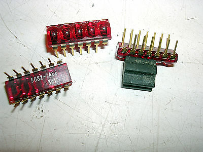 Hp Midget Digits On A Dip Led Readouts Nos 5082-7466
