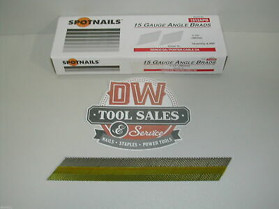 "15 Gauge Angled Finish Nails 1.5"" 1 1/2 Inch 34 Degree DA Type (4,000)"
