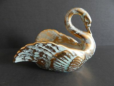 Stangl Pottery Antique Gold #5033 Swan Planter