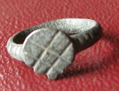 Authentic Ancient Artifact > Unidentified BRONZE RING SZ: 1/2 US, >12mm 11853