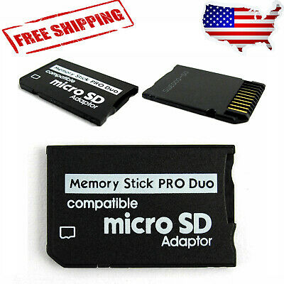 Micro SD SDHC TF to Memory Stick MS Pro Duo PSP Adapter for PSP 1000 2000 3000.