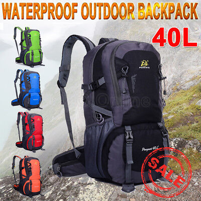 40L Waterproof Outdoor Backpack Athletic Sport Travel Rucksack Bag Trekking OZ