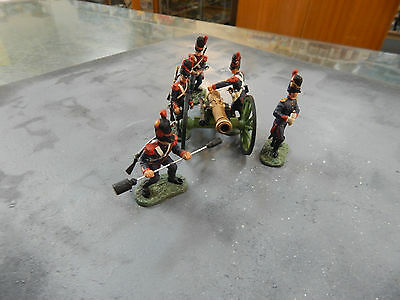 54mm Britains Toy Soldiers - French Guard foot Artillery Napoleonics - no boxes