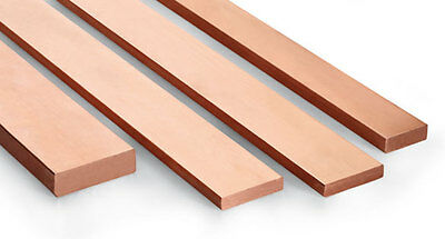 CHEAPEST - Copper Flat Bar various sizes & Lengths upto 1000mm long