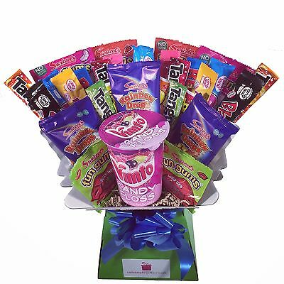 Kids Retro Sweet Candy Bouquet - Sweet Hamper Chocolate Tree - Perfect Gift