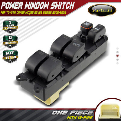Master Power Window Switch for Toyota Camry MCV36 ACV36 2002-2006 Driver Side