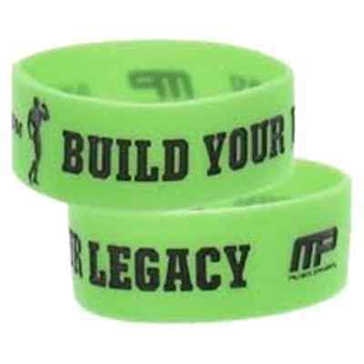 "MusclePharm Arnold Series Wristband ""BUILD YOUR LEGACY"" Bodybuilding Bracelet"