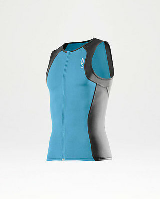 NEW 2XU Active Tri Singlet Mens Shirts