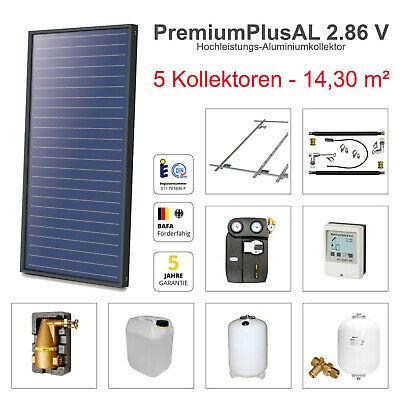 Solarbayer premium plus AL Solar package for Warm water and Heating support