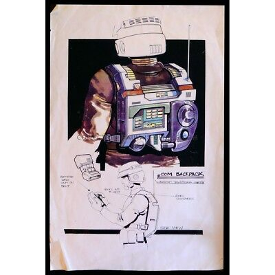 STARSHIP TROOPERS US Production-Used Storyboard Backpack 11x17 - 1995 - Paul Ver