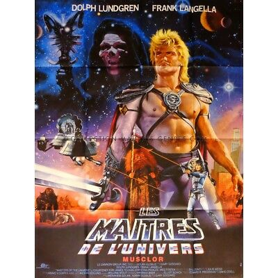 MASTERS OF THE UNIVERSE Movie Poster  47x63 in. French - 1987 - Gary Goddard, Do