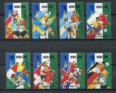 s6505) SIERRA LEONE 1990 MNH** WC Football'90-CM Calcio 8v