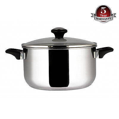 Prestige 76471 Stainless Steel 7.6 Litre Stockpot with Glass Lid - Brand New