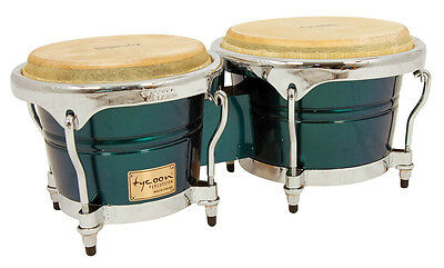 Tycoon Percussion 7 & 8 1/2 Concerto Series Bongos - Green Spectrum Finish - TB-