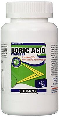 6 Pack - Boric Acid Powder Humco 6 Oz Each