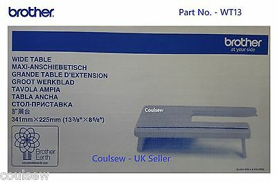 BROTHER SEWING MACHINE WIDE EXTENSION TABLE WT13 for L14, LS14, LS17 ONLY