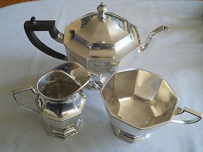 Stunning Goldsmiths & Silversmiths Sterling 3 Pc Tea Service Set