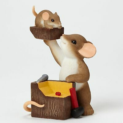 "Charming Tails Mouse 3.5"" Figure Father Son Chip Off the Old Block #4043858 NIB"