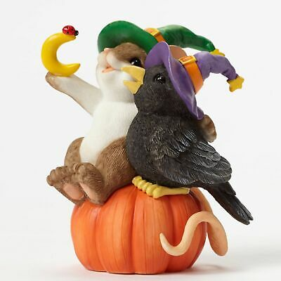 "Charming Tails Mouse Halloween 3.5"" Figure Magic Friendship Helps Us Crow Closer"