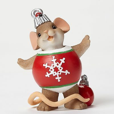 "Charming Tails Mouse 2.875"" Christmas Beautiful Decor Is Your Smile 4046945 NIB"