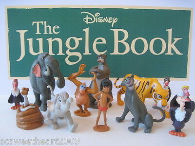 Disney THE JUNGLE BOOK MOVIE 12 PC Figure Play Set Mowgli Bagheera Shere Khan