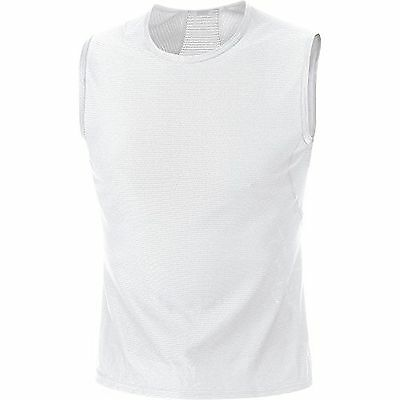 Gore Bike Wear Mens Base Layer Singlet, White, X-Large
