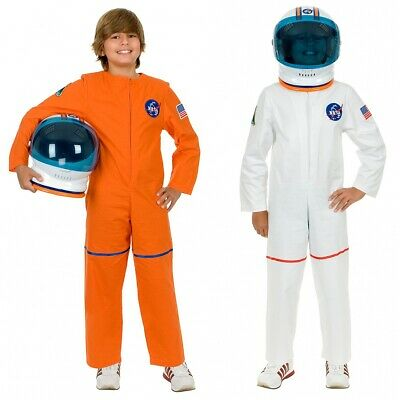 Astronaut Costume for Kids NASA Spaceman Jumpsuit Halloween Fancy Dress